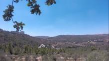 La vue depuis le couvent de Notre-Dame de Sion, où nous avons déjeuné.