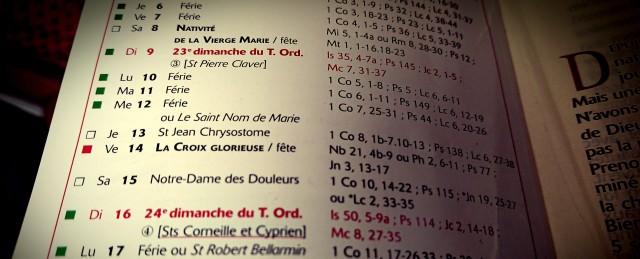 calendrier liturgique 2